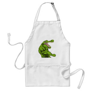 Alligator or crocodile mascot punching standard apron