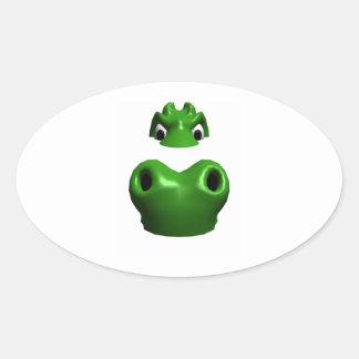 Alligator Oval Sticker