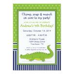"""Alligator Party Invitation 5"""" X 7"""" Invitation Card"""