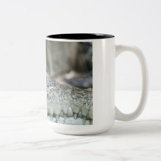 Alligator Photo Two-Tone Coffee Mug