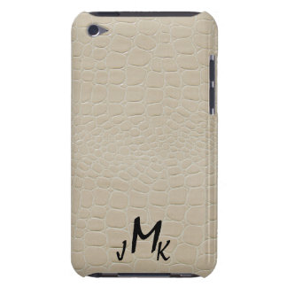 Alligator Print Beige with Monogram Case