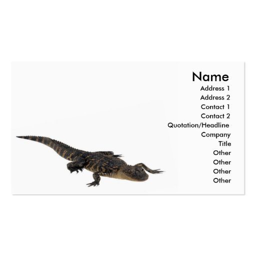 Alligator Profile Card Business Card Templates