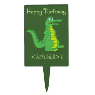 Alligator Rectangle Cake Pick