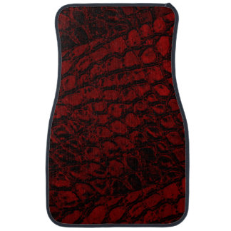 Alligator Red Faux Leather Car Floor Mat