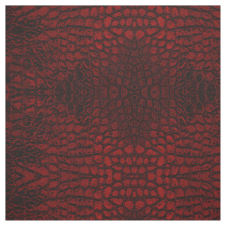 Alligator Red Faux Leather Fabric