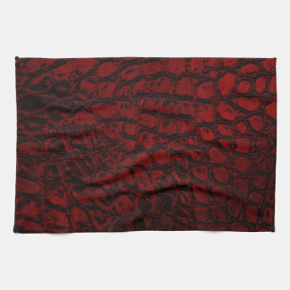 Alligator Red Faux Leather Hand Towel