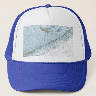Alligator Reef Sombrero Key FL Nautical Chart Hat