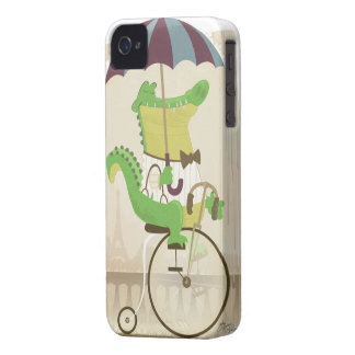 Alligator Riding a Bicycle Case-Mate iPhone 4 Cases