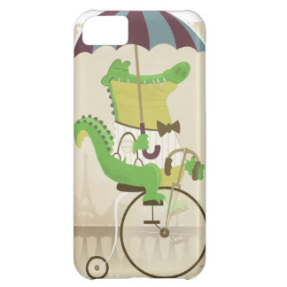 Alligator Riding a Bicycle Cover For iPhone 5C