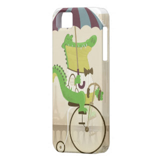 Alligator Riding a Bicycle iPhone SE/5/5s Case