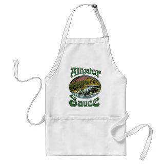 Alligator Sauce Logo Adult Apron