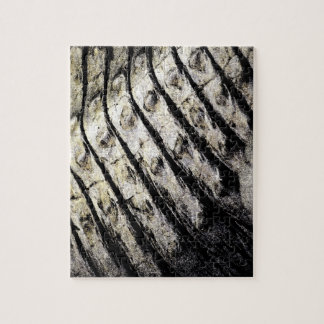 alligator scales neat abstract dark pattern jigsaw puzzle