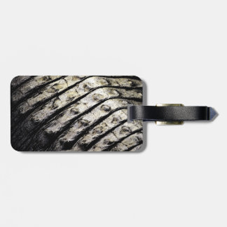 alligator scales neat abstract dark pattern luggage tag