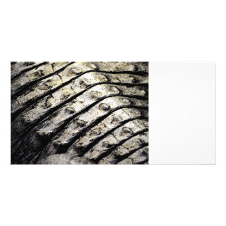 alligator scales neat abstract dark pattern photo card