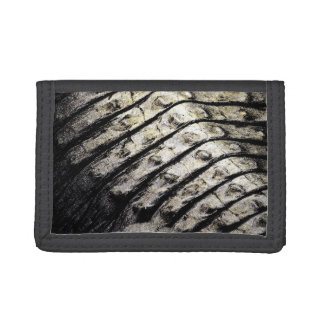 alligator scales neat abstract dark pattern trifold wallet