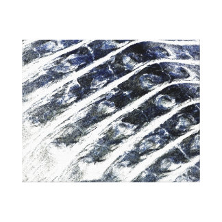 alligator scales neat abstract invert pattern canvas print