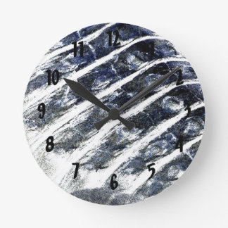 alligator scales neat abstract invert pattern round wall clocks
