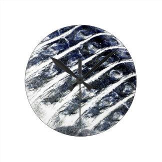 alligator scales neat abstract invert pattern round clocks