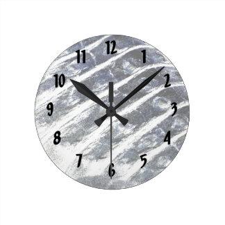 alligator scales neat abstract invert pattern round clock