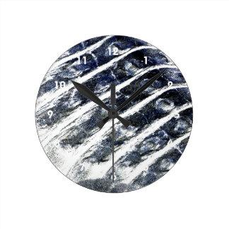 alligator scales neat abstract invert pattern round wallclocks