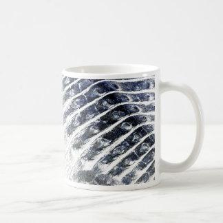 alligator scales neat abstract invert pattern classic white coffee mug