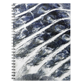 alligator scales neat abstract invert pattern spiral note books