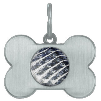 alligator scales neat abstract invert pattern pet tag