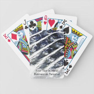 alligator scales neat abstract invert pattern bicycle playing cards