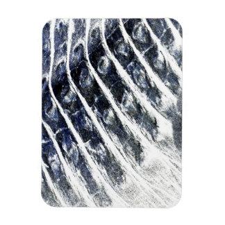 alligator scales neat abstract invert pattern rectangular photo magnet
