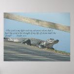 Alligator Scripture Poster