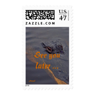 Alligator See You Later Stamp