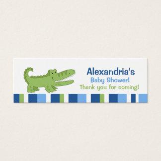 Alligator Skinny Business Card Favor Tag