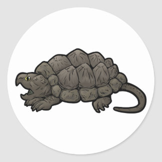 Alligator Snapping Turtle Classic Round Sticker