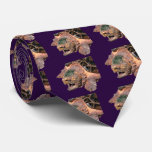 Alligator snapping turtle neck tie