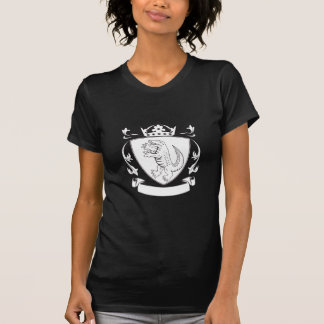 Alligator Standing Coat of Arms Black and White T-Shirt