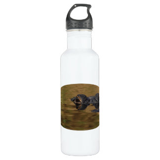 Alligator surfacing stainless steel water bottle