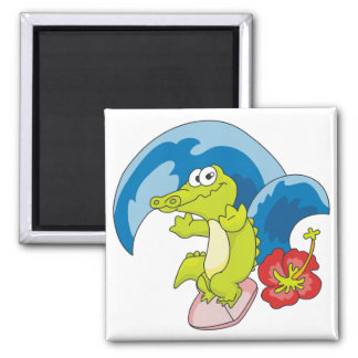 Alligator Surfer Tshirts and Gifts Refrigerator Magnets