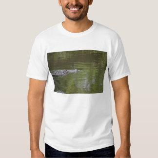 alligator swimming in water reptile animal t-shirts