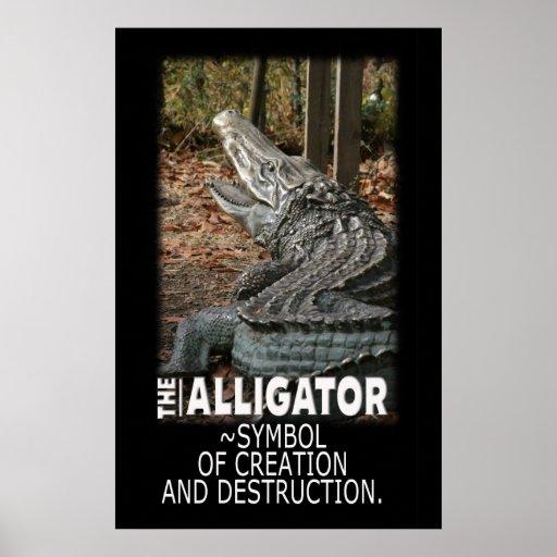 ALLIGATOR - SYMBOL OF CREATION AND DESTRUCTION POSTER