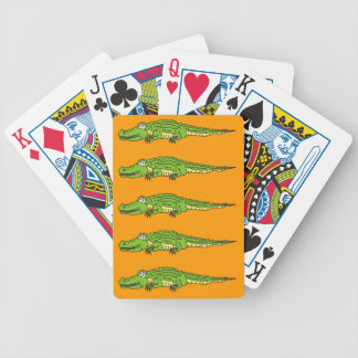 Alligator, The Silent Cocodrile Bicycle Playing Cards