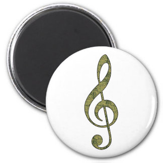 Alligator Treble Clef Fridge Magnets