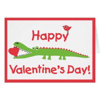 Alligator Valentine's Day Cards