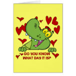 Alligator Valentines Day Greeting Card