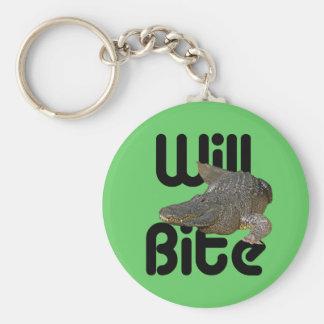 Alligator Will Bite Keychain