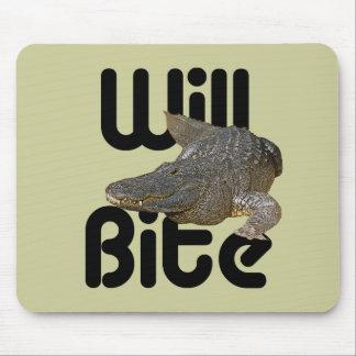 Alligator Will Bite Mouse Pad