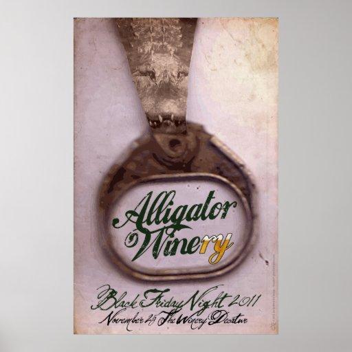 Alligator Winery Print