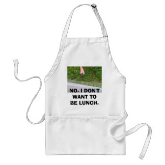 Alligators-2 082, NO. I DON'T WANT TO BE LUNCH. Adult Apron