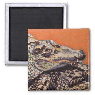 Alligators 2 Inch Square Magnet