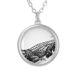 alligators-37912 round pendant necklace