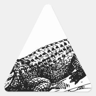 alligators-37912 triangle sticker